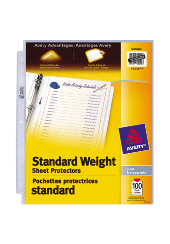 Avery<sup>&reg;</sup> Standard Weight Sheet Protectors - Avery<sup>&reg;</sup> Standard Weight Sheet Protectors