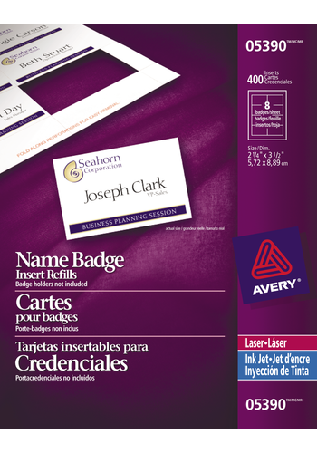 Avery<sup>®</sup> Name Badge Inserts - Avery<sup>®</sup> Name Badge Inserts