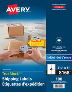 Avery<sup>&reg;</sup> Shipping Labels with TrueBlock&trade; Technology 8168