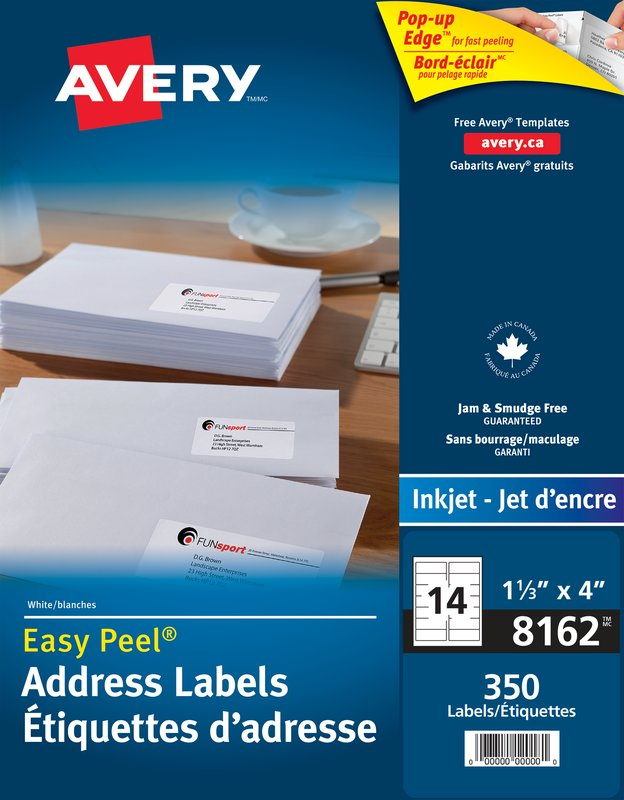 Avery 8162 Address Labels 1 13 X 4 Rectangle White