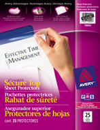 Avery<sup>&reg;</sup> Diamond Clear Secure Top Sheet Protectors 78602