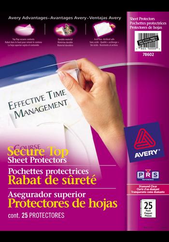 Avery<sup>&reg;</sup> Pochettes protectrices avec rabat de sécurité sans acide - Avery<sup>&reg;</sup> Pochettes protectrices