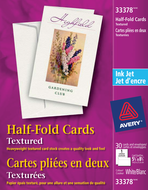Avery<sup>&reg;</sup> Cartes de souhaits pliées en deux pour imprimantes à jet d'encre 33378