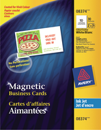 Avery<sup>®</sup> Magnetic Business Cards 8374