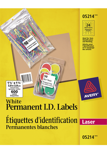 Avery<sup>®</sup> Étiquettes d'identification permanentes - Avery<sup>®</sup> Étiquettes d'identification permanentes
