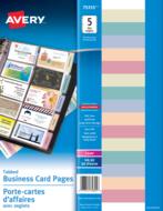 Avery<sup>&reg;</sup> Porte-cartes d'affaires pour reliures avec onglets 75355