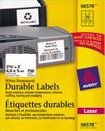 Avery<sup>&reg;</sup> Étiquettes d'identification durables avec Technologie TrueBlock<sup>MC</sup> pour imprimantes à laser 6578