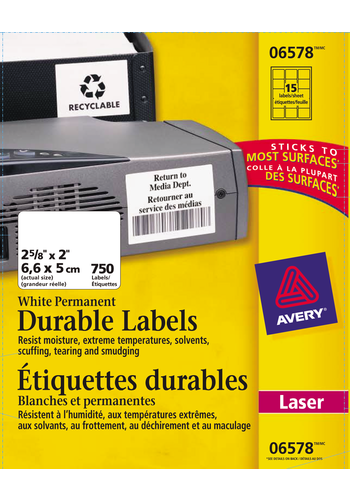 Avery<sup>®</sup> Durable ID Labels with TrueBlock™ Technology - Avery<sup>®</sup> Durable ID Labels