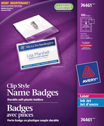 Avery<sup>&reg;</sup> Garment Friendly Clip Style Name Badge Kit 74461