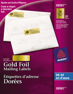 Avery<sup>&reg;</sup> Gold Foil Mailing Labels 8987