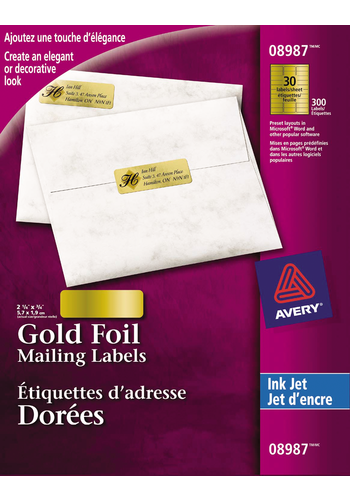 Avery<sup>®</sup> Gold Foil Mailing Labels - Avery<sup>®</sup> Gold Foil Mailing Labels