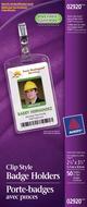 Avery<sup>&reg;</sup> Porte-badges avec pinces format vertica 2920