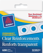 Avery<sup>®</sup> Clear Reinforcement Labels 32202