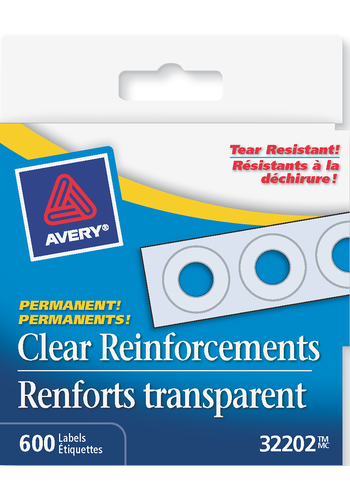 Avery<sup>&reg;</sup> Clear Reinforcement Labels - Avery<sup>&reg;</sup> Clear Reinforcement Labels