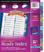 Avery<sup>&reg;</sup> Ready Index Intercalaires Double-Column avec Table des Matières pour imprimantes à laser ou jet d'encre 11321