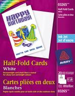 Avery<sup>&reg;</sup> Cartes de souhaits pliées en deux pour imprimantes à jet d'encre 3265