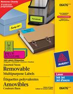 Avery<sup>&reg;</sup> Étiquettes d'identification Amovibles pour imprimantes à laser ou jet d'encre 6476