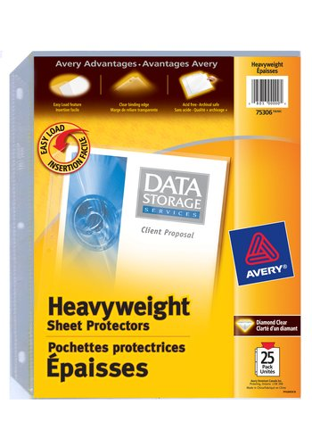 Avery® 75306 - Heavyweight Sheet Protectors,  8-1/2in. x 11in., Diamond Clear