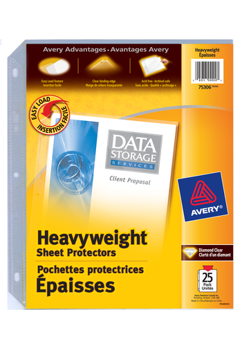 Avery<sup>®</sup> Heavyweight Sheet Protectors - Avery<sup>®</sup> Heavyweight Sheet Protectors