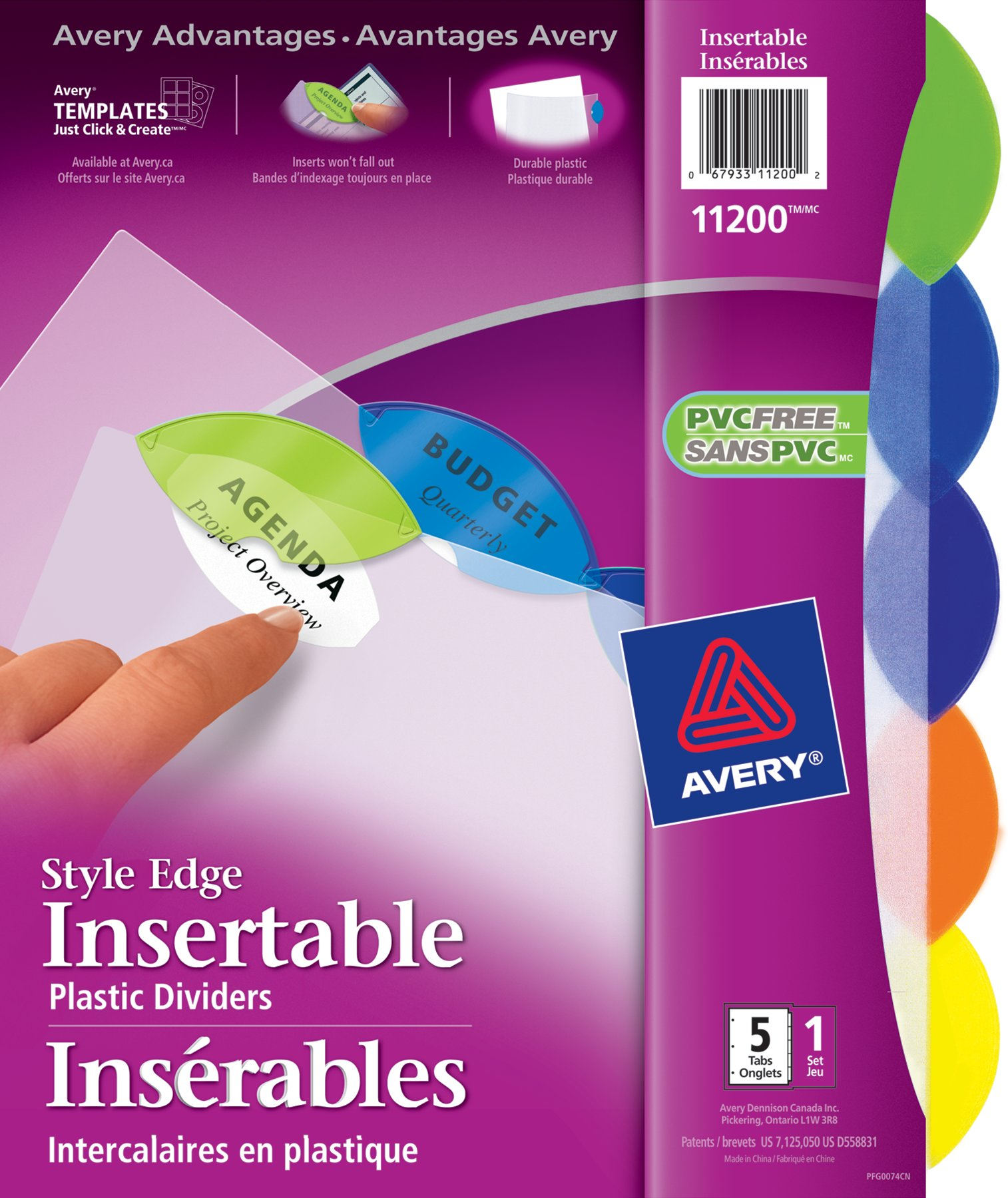 avery template 11201 - insertable dividers