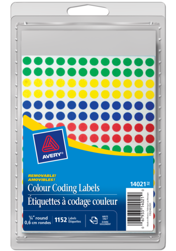 Avery<sup>&reg;</sup> Removable Colour Coding Labels - Avery<sup>&reg;</sup> Removable Colour Coding Labels