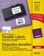 Avery<sup>&reg;</sup> Étiquettes d'identification durables avec Technologie TrueBlock<sup>MC</sup> pour imprimantes à laser 6576
