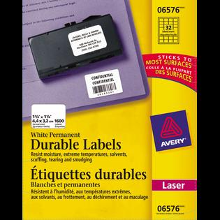 Avery® Étiquettes d'identification durables