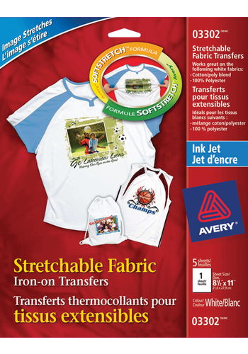 Avery<sup>&reg;</sup> Stretchable T-Shirt Transfers - Avery<sup>&reg;</sup> Stretchable T-Shirt Transfers