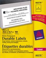 Avery<sup>&reg;</sup> Étiquettes d'identification durables avec Technologie TrueBlock<sup>MC</sup> pour imprimantes à laser 6579