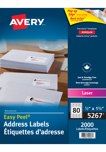 avery 5267 address labels 1 2 x 1 3 4 rectangle white