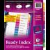 Avery<sup>®</sup> Ready Index Intercalaires avec Table des Matières pour imprimantes à laser ou jet d'encre onglets vierges - Avery<sup>®</sup> Ready Index Intercalaires