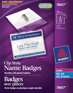 Avery<sup>&reg;</sup> Garment Friendly Clip Style Name Badge Kit 78617