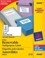 Avery<sup>&reg;</sup> Étiquettes Polyvalentes Amovibles 6468