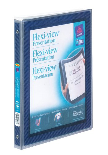 Avery® 15766 - Reliure Flexi-View™ ,  Dit 8½ in.x 11in. Papier, Bleu