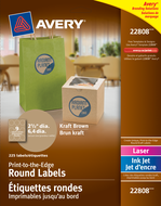 Avery<sup>&reg;</sup> Print-to-the-Edge Round Labels 22808
