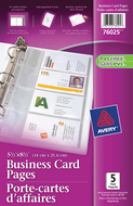 Avery<sup>&reg;</sup> Minipages porte-cartes d'affaires pour reliures 76025