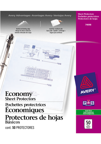 Avery<sup>&reg;</sup> Pochettes protectrices économiques - Avery<sup>&reg;</sup> Pochettes protectrices économiques