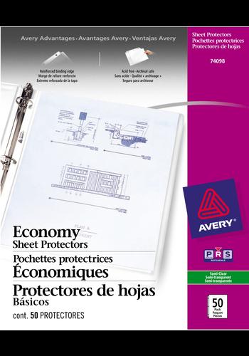 Avery<sup>&reg;</sup> Economy Weight Sheet Protectors - Avery<sup>&reg;</sup> Economy Weight Sheet Protectors