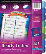 Avery<sup>&reg;</sup> Ready Index Intercalaires Double-Column avec Table des Matières pour imprimantes à laser ou jet d'encre 11320