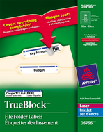 Avery<sup>&reg;</sup> Filing Labels with TrueBlock&trade; Technology 5766
