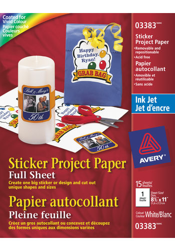 Avery<sup>&reg;</sup> Sticker Project Paper - Avery<sup>&reg;</sup> Sticker Project Paper