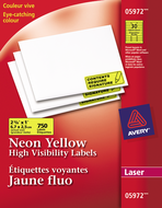 Avery<sup>&reg;</sup> High Visibility Labels 5972
