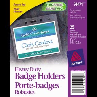 Avery® Horizontal Name Badge Holders