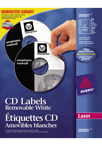 Avery<sup>®</sup> Removable CD Labels - Avery<sup>®</sup> Removable CD Labels