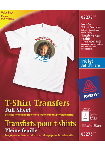 Avery<sup>&reg;</sup> T-Shirt Transfers - Avery<sup>&reg;</sup> T-Shirt Transfers