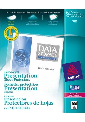 Avery® 74100 - Heavyweight Sheet Protectors,  8-1/2in. x 11in., Diamond Clear