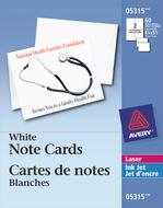Avery<sup>&reg;</sup> Cartes de notes pour imprimantes à laser 5315
