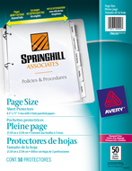 Avery<sup>&reg;</sup> Pochettes protectrices pleine page 78630
