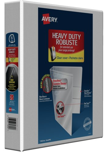 Avery® 79795 - Reliure de présentation robuste,  Holds 8-1/2in. x 11in. Paper, Blanc