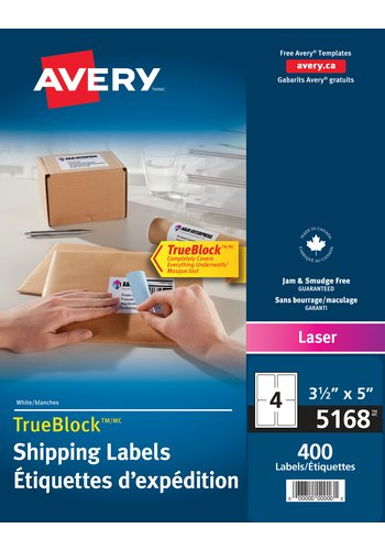 Avery® 05168 - Shipping Labels ,  3-1/2in. x 5in., Rectangle, White